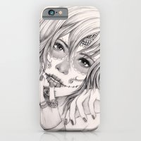 iPhone & iPod Case featuring Sugar Skull Girl 2 by Vivian Lau