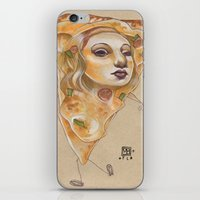 PIZZA LADY iPhone & iPod Skin