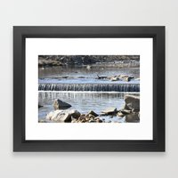 Waterfalls Framed Art Print