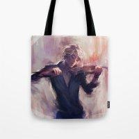 Violin and James Carstairs Tote Bag
