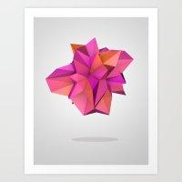 Pink Like Orange Art Print