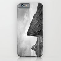 iPhone & iPod Case featuring Lindisfarne Boat and Castle, Northumberland by David Turner