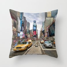 Time Square Throw Pillow