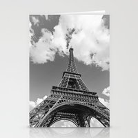 Eiffel Tower - Black and White Stationery Cards