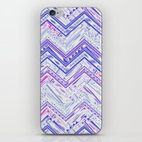 PURPLE ETHNIC CHEVRON iPhone & iPod Skin