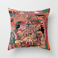 Village of Forest Throw Pillow