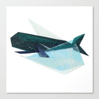 Canvas Print featuring Ira Whale by Darrah Gooden