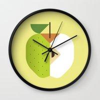 Fruit: Apple Golden Deli… Wall Clock