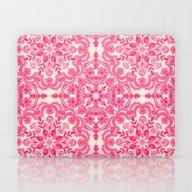 Hot Pink & Soft Cream Fo… Laptop & iPad Skin