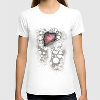 Space Cluster Womens Fitted Tee White SMALL