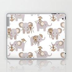 Monkey and elephant Laptop & iPad Skin
