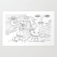 Play In Oceans Of Happin… Art Print