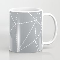 Abstract Dotted Lines Gr… Mug