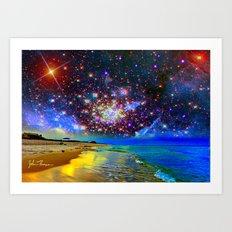 Starry Beach Art Print