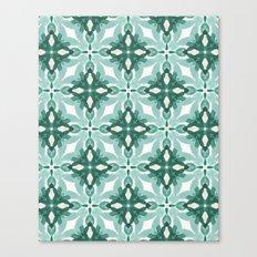 Watercolor Green Tile 2 Canvas Print