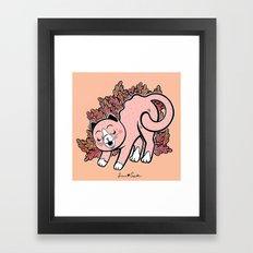 Cat Purring Framed Art Print
