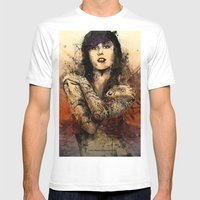 Kat Von D Mens Fitted Tee White SMALL