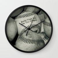Keep Your Eye On The Dream Wall Clock