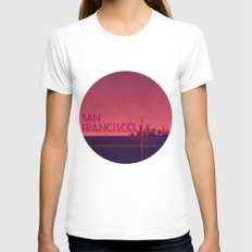 San Francisco Womens Fitted Tee White SMALL