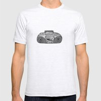Radio Mens Fitted Tee Ash Grey SMALL