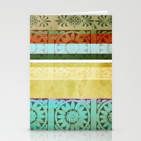 Textile - Green Stationery Cards