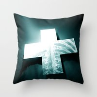 clinically dead Throw Pillow
