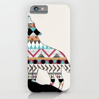iPhone & iPod Case featuring Wild Soul - Aztec Navajo Wolf by Teacuppiranha