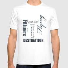 No. 8. Falling's just like Flying White Mens Fitted Tee SMALL