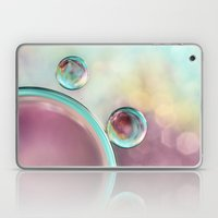 Bubble Abstract with Glitter Pink and Blue Laptop & iPad Skin
