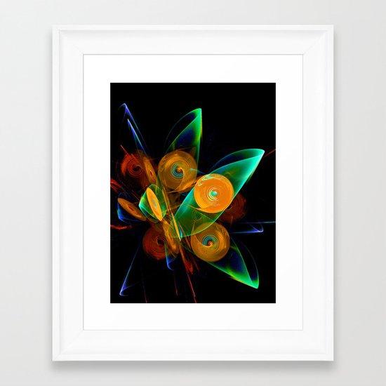 Rotating by Wind Framed Art Print