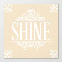 Shine & Lace Canvas Print