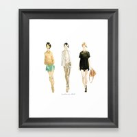 Fashion Sketch - Philip Lim Spring 2011 Framed Art Print