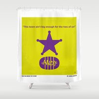 No190 My Toy Story minimal movie poster Shower Curtain