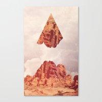 Montaña Abajo Canvas Print