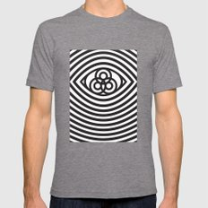Third Eye Mens Fitted Tee Tri-Grey SMALL
