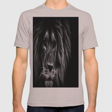 lion.  Black & White Mens Fitted Tee Cinder SMALL