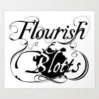 Flourish & Blotts of Diagon Alley Art Print