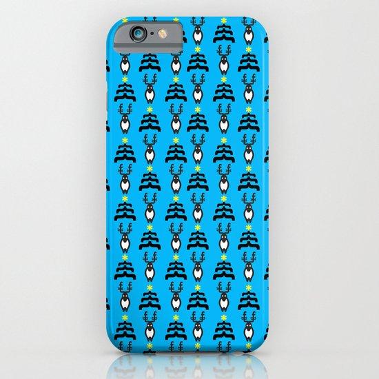 deers n' trees christmas pattern V.2 iPhone & iPod Case