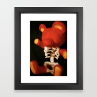 Teddy Bare Bones Framed Art Print