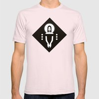 Phaedra Black Mens Fitted Tee Light Pink SMALL