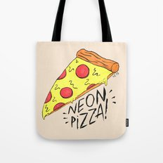 NEON PIZZA Tote Bag