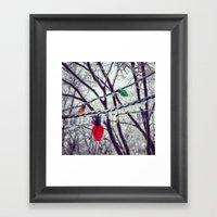 Frozen Lights Framed Art Print