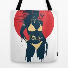 She wants to dance - Vintage Derby version. Tote Bag