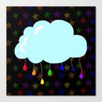 I wish it could rain colors Canvas Print