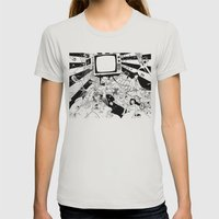 Apophenia Womens Fitted Tee Silver SMALL