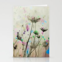 Stationery Card featuring Splash Of Nature by The Strange Days Of Gothicolors