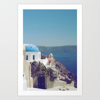 Santorini Door VI Art Print