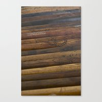 Wooden Baseball Bats Canvas Print