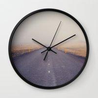 Nowhere Road Wall Clock