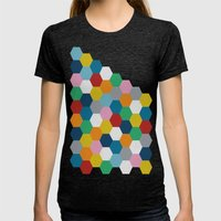 Honeycomb 2 Womens Fitted Tee Tri-Black SMALL